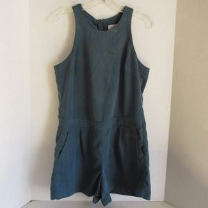 Lou and Grey Green Romper SZ S Modal Back Zip